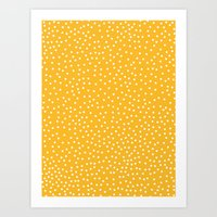 YELLOW DOTS Art Print