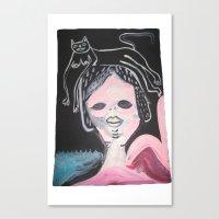 Gato Head Canvas Print