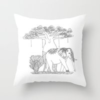 Colouring Canvas - Baoba… Throw Pillow