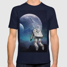 Searching Home Mens Fitted Tee Navy SMALL