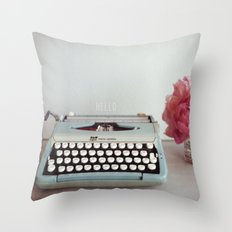 hello with text Throw Pillow