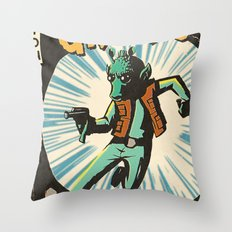Greedo Vintage Comic Cover Throw Pillow