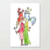 Lesbian Flower Women Kis… Canvas Print