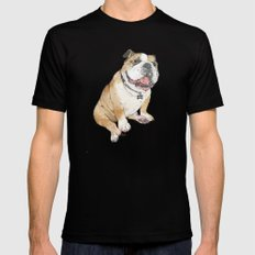 Bulldog  Mens Fitted Tee Black SMALL