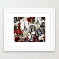 Postcards From Paris Framed Art Print