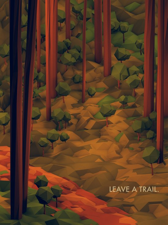 Leave A Trail Art Print