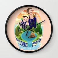 Couple custom illustration for I&S Wall Clock