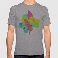 Abstract Rainbow Mens Fitted Tee Athletic Grey SMALL