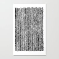 Stockinette Black Canvas Print