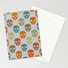Knitted skull pattern - colorful Stationery Cards
