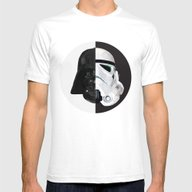 STAR WARS Mens Fitted Tee White SMALL