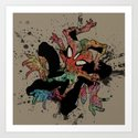 the Spider-man Art Print