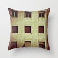Windows with man Throw Pillow