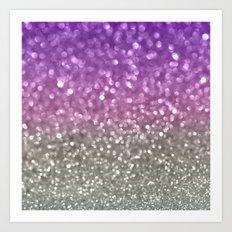 Lilac and Gray Art Print