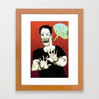 Not A Zombie Framed Art Print