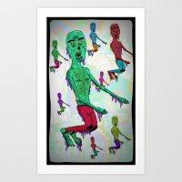 ¨Zombillurca¨ Art Print