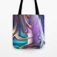 Tote Bag featuring 749 Fractal by VLKAE