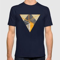 Pyramid Mens Fitted Tee Navy SMALL