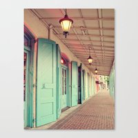 Throw Open the Shutters Canvas Print