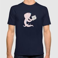 Squid of Judgment Mens Fitted Tee Navy SMALL
