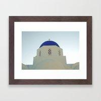 Santorini Churches V Framed Art Print