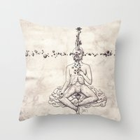 Tarot: V - The Hierophant Throw Pillow