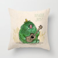 Monster Jam Throw Pillow