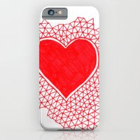 red geometric heart iPhone 6 Slim Case
