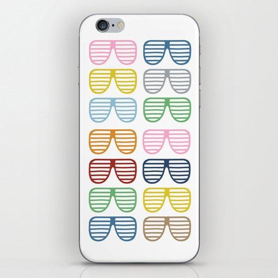 Rainbow Shutter Shades iPhone & iPod Skin