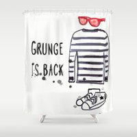 Grunge is back Shower Curtain