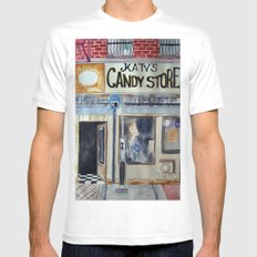 Candy Store Mens Fitted Tee SMALL White