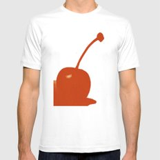 cherry Mens Fitted Tee SMALL White
