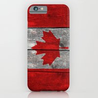 Canada Flag On Heavily T… iPhone 6 Slim Case