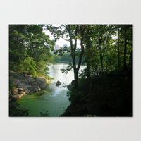 New York Central Park Lake Canvas Print
