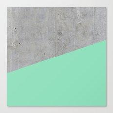 Concrete and sea Canvas Print