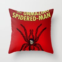 The Unmazing Spidered-Ma… Throw Pillow