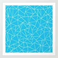 Ab Outline Electric Art Print