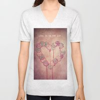 Love is in the air.. Unisex V-Neck