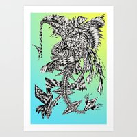 MAYAN PIRANHA 2 (full Ve… Art Print