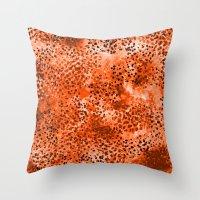 Wild (Series) Orange Throw Pillow