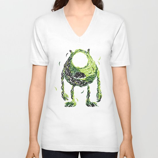 Wazowski of Fish V-neck T-shirt