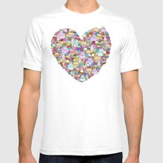 Dessert SMALL White Mens Fitted Tee