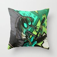 HUMAN FLY Throw Pillow