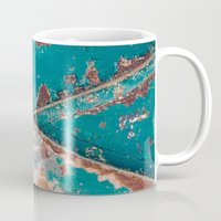 Teal And Rust Mug