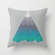 Many Mountains Throw Pillow
