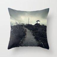 Black Island Throw Pillow