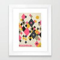 Flying Kites Framed Art Print