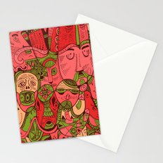 Faces Pattern Stationery Cards
