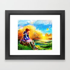 Nausicaa of the Valley of the Wind Framed Art Print