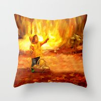 The Little Collector - Painting Style Throw Pillow